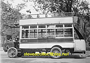 c.1915 EARLY CITY BUS - 5th Ave. NYC Photo D - 5 x 7 (Image1)