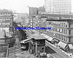 c.1907 CHICAGO, ILLINOIS Wabash Avenue RR Photo-8x10 (Image1)