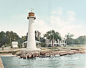 c.1901 BILOXI LIGHTHOUSE Mississippi Photo - 8 x 10 (Image1)