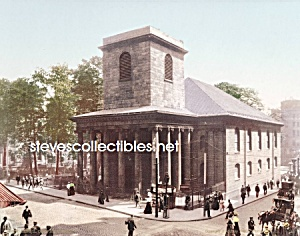 c.1900 BOSTON MASS. Kings Chapel Photo - 8 x 10 (Image1)