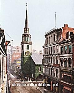 c.1900 BOSTON MASS. Old South Church Photo - 8 x 10 (Image1)