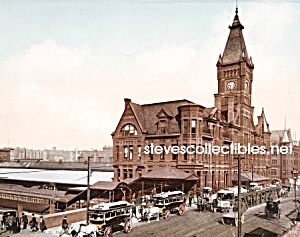 c.1898 CHICAGO, ILL C&N.W. RR Station Photo - 8 x 10 (Image1)