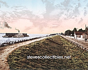 c.1900 NEW ORLEANS, The Levee at Chalmette Photo-8 x 10 (Image1)