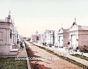 c.1900 NEW ORLEANS, Metairie Cemetery Photo-8 x 10 (Image1)