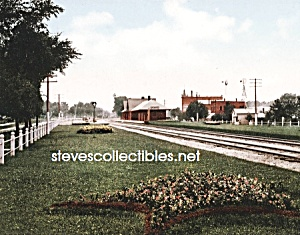 c.1898 GLEN ELLYN RR Station,  ILLINOIS Photo - 8x10 (Image1)