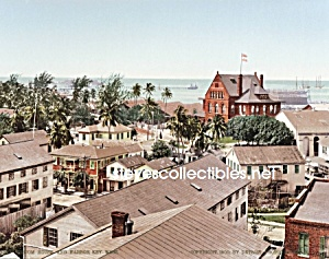 c.1900 KEY WEST, FL Custom House and Harbor Photo-8x10 (Image1)