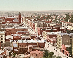 c.1900 LOS ANGELES, CALIFORNIA Birds Eye Photo - 8 x 10 (Image1)