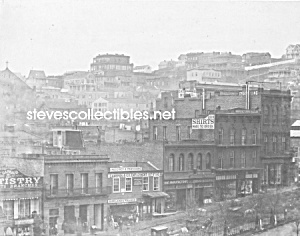 c.1860 SAN FRANCISCO Clay Street South Side Plaza Photo (Image1)