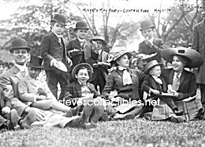C.1910 Midget Party Photo 5 X 7 - Side Show