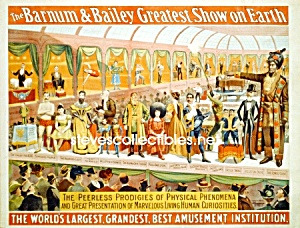 C.1898 Barnum Bailey Circus Curiosities - Side Show