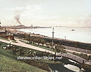 c.1901 CLEVELAND, OHIO Harbor from Lake View Park Photo (Image1)