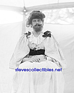 C.1909 Bearded Lady Circus Carnival Side Show - Photo