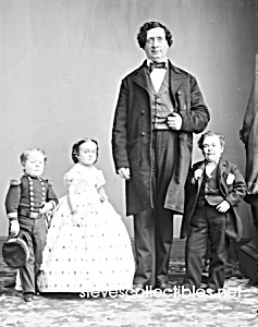 C.1860 Gen. Tom Thumb Midget++-side Show - Circus-photo