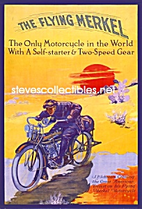 C.1913 Flying Merkel Motorcycle Poster Print