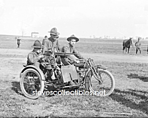 C.1915 Motorcycle Machine Gunner Photo - 8x10