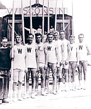 1912  WISCONSIN Varsity Rowing TEAM Photo-GAY INTEREST (Image1)