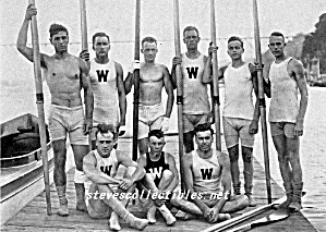 1911 WISCONSIN Varsity Rowing TEAM Photo-GAY INTEREST (Image1)
