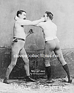 C.1890 Boxers - Cross Counter - Photo - 8 X 10