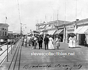 c.1908 OCEAN CITY, N.J. - Boardwalk - Photo - 8 x 10 (Image1)