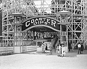 c.1920 COASTER DIPS - Glen Echo, Maryland Photo-8 x 10 (Image1)