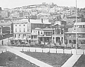 c.1855 SAN FRANCISCO, CAL. S W corner of Plaza Photo (Image1)