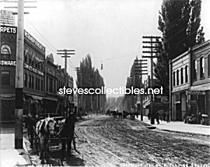 C.1907 Lewiston, Idaho Streetscene Photo - 8 X 10