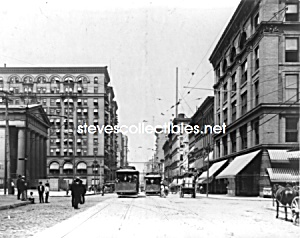 C.1903 St. Louis, Missouri Fourth Street Photo - 8 X 10