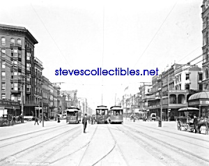 c.1907 NEW ORLEANS, LA Canal Street Photo - 8 x 10 (Image1)