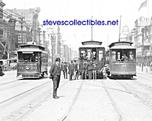 c.1907 NEW ORLEANS, LA Canal Street Cars Photo (Image1)