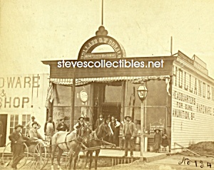 C.1886 Broken Bow, Nebraska Hardware Store Group Photo