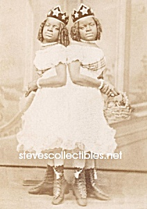 c.1865 SIAMESE TWINS Side Show - Circus Photo B (Image1)