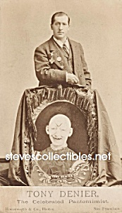 c.1870 TONY DENIER PANTOMIMIST Side Show - Circus Photo (Image1)