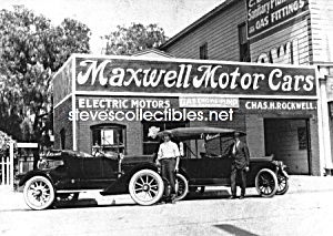 c.1914 MAXWELL MOTOR CARS Photo, Anaheim - 5 x 7 (Image1)