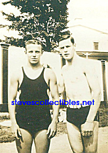 c.1920s Hot MALE SWIMMERS Outdoors - Gay Int. (Image1)