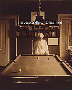 c.1908 SAMUEL CLEMENS Mark Twain BILLIARDS Photo - 8x10 (Image1)