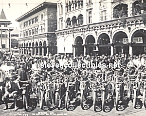 c.1910 MOTORCYCLE CLUB at Venice, Calif. Photo A - 8x10 (Image1)