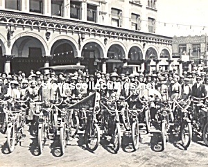c.1910 MOTORCYCLE CLUB at Venice, Calif. Photo B - 8x10 (Image1)