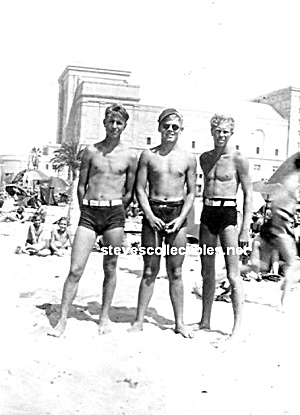 3 Hot Male Blond Swimmers Photo - Gay Interest