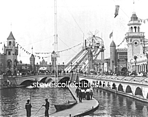 c.1904 Coney Island, THE CHUTES Luna Park Photo - 8x10 (Image1)