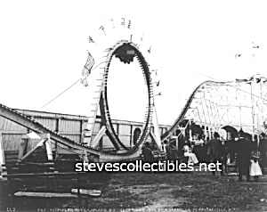 C.1900 Coney Island, Flip-flap Loop Coaster Photo -8x10