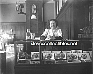 c.1908 CIGAR STORE (Woman at Counter)  Photo - 8x10 (Image1)
