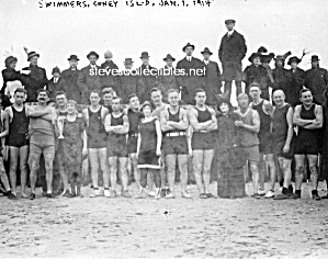 c.1914 Hot Male BULGY SWIMMERS Photo - GAY INTEREST (Image1)