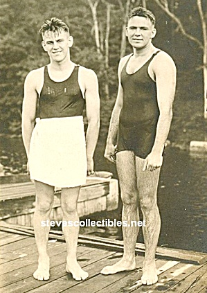 ca.1930s Pair of MUSCULAR MALE SWIMMERS - GAY INTEREST (Image1)