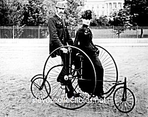 C.1886 Quadracycle (Velocipede) Photo-8 X 10