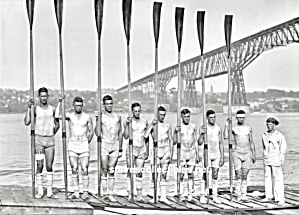 1914 WISCONSIN Freshman Rowing TEAM Photo-GAY INTEREST (Image1)