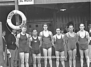 1920s Bath House MALE BULGY SWIMMERS Photo - GAY INTEREST (Image1)