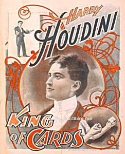 1895 HOUDINI - King of Cards - MAGIC Print - 5 x 7 (Image1)