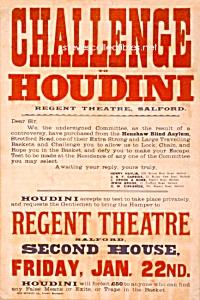 1904 HOUDINI - Challenge MAGIC Poster Print - 8 x 10 (Image1)