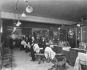 C.1896 Philadelphia Barber Shop Photo - 8 X 10