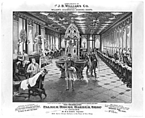 Victorian Williams Shaving Soap Barber Shop Adv. Print